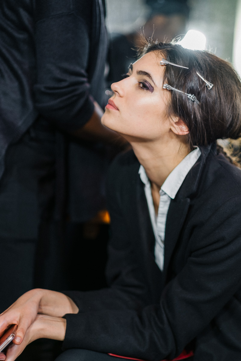 Backstage Milan Fashion Week